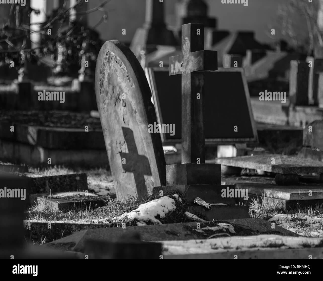 Kensal Green Cemetery, London, England, United Kingdom - Stock Image