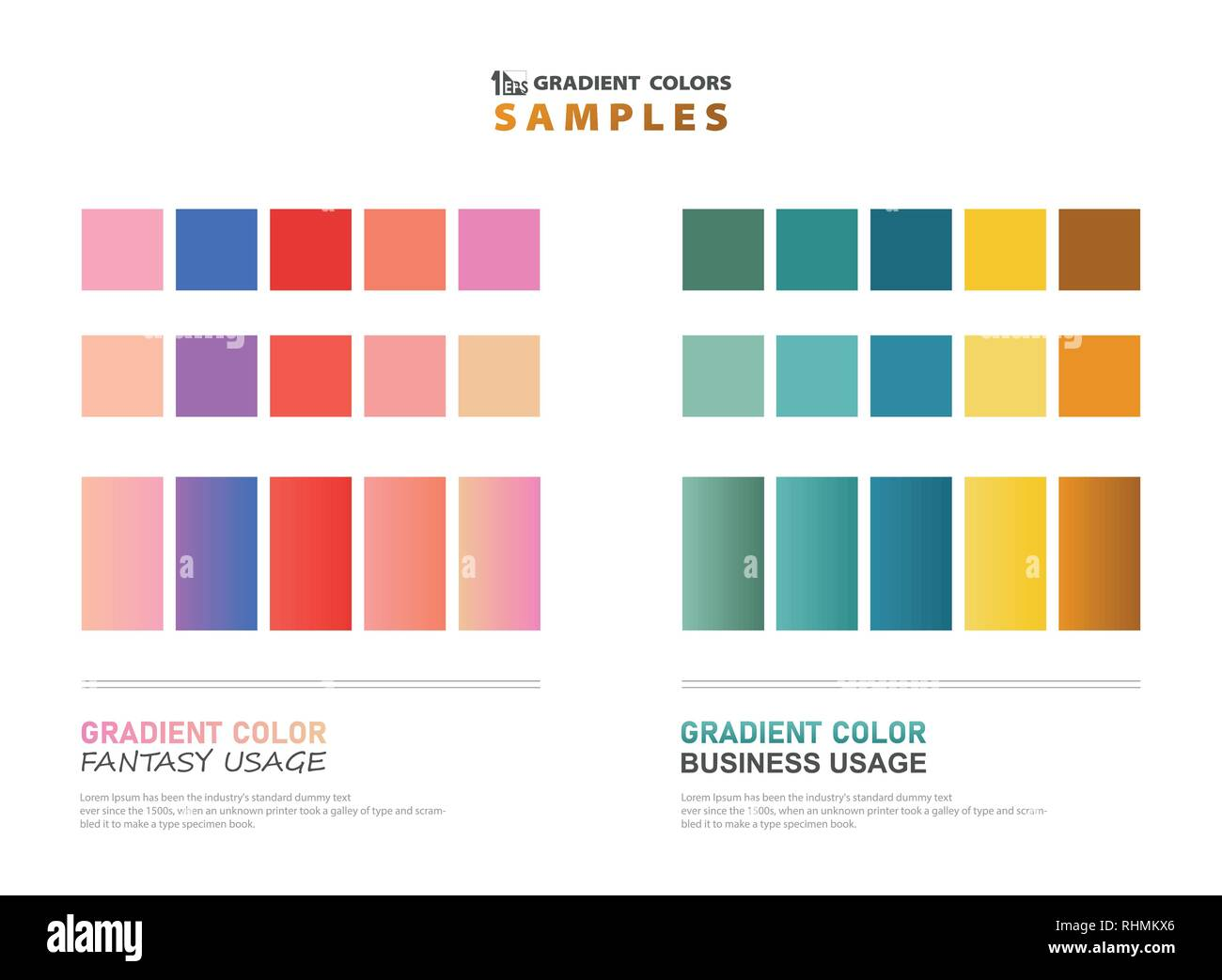 Abstract color theme gradient samples for usage. vector eps10 - Stock Image
