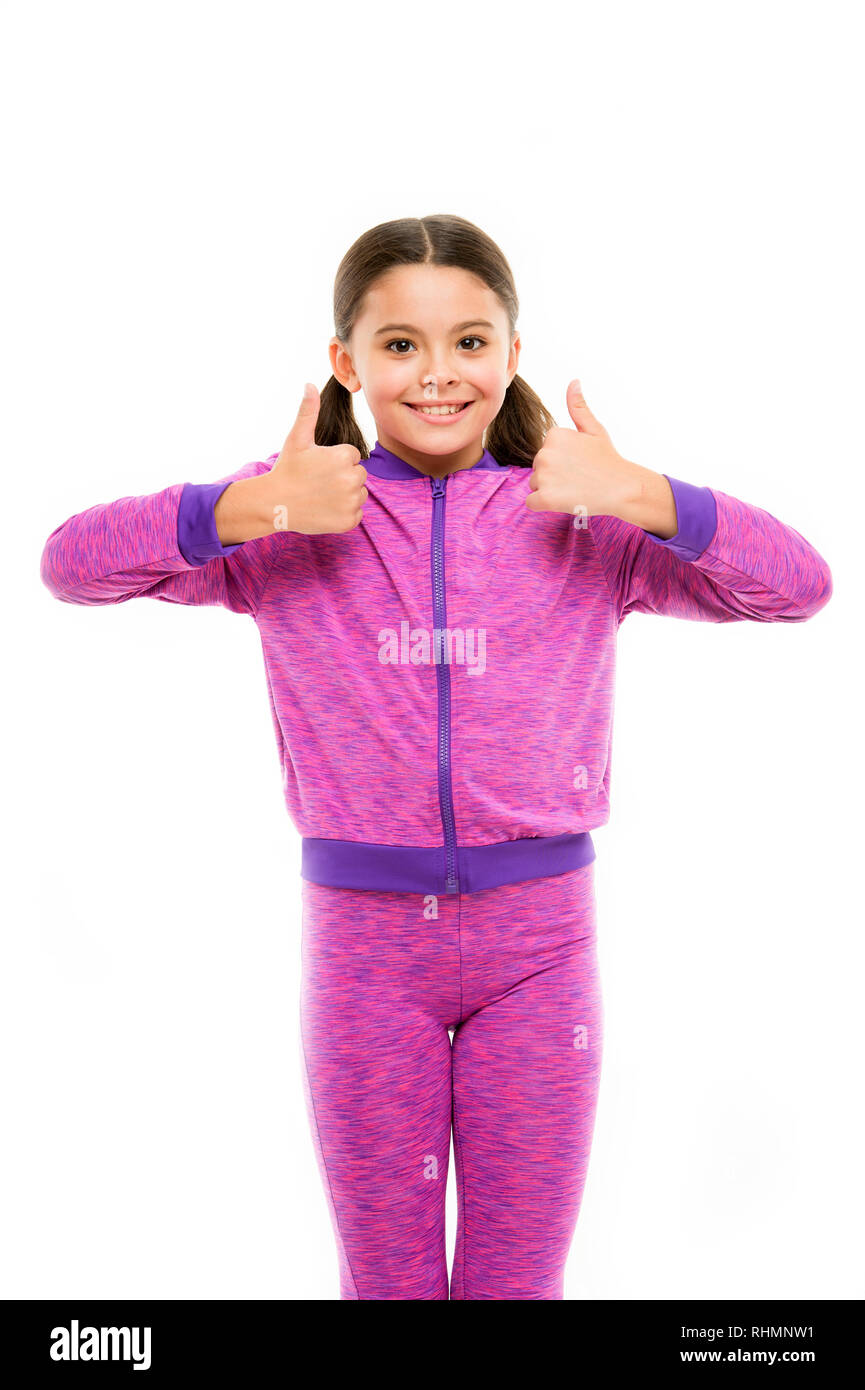This is awesome. Girl happy totally in love fond of or highly recommend. Thumbs up approvement. Girl cute child show thumbs up gesture. Gifts your teens will totally love. Kid show thumbs up. - Stock Image