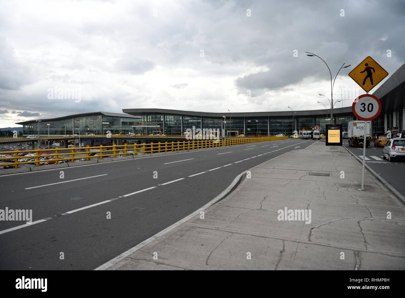 Terminals at El Dorado International AIrport for airline passengers arriving and departing in Bogota, Colombia, South America. - Stock Image