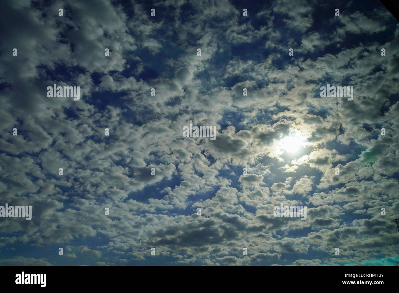 Abstract cloudscape photographed at twilight in Osaka, Japan - Stock Image