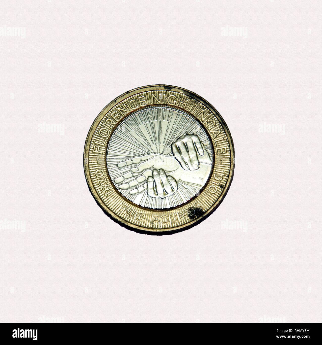 Limited edition British £2 coin commemorating the famous nurse Florence Nightingale Stock Photo