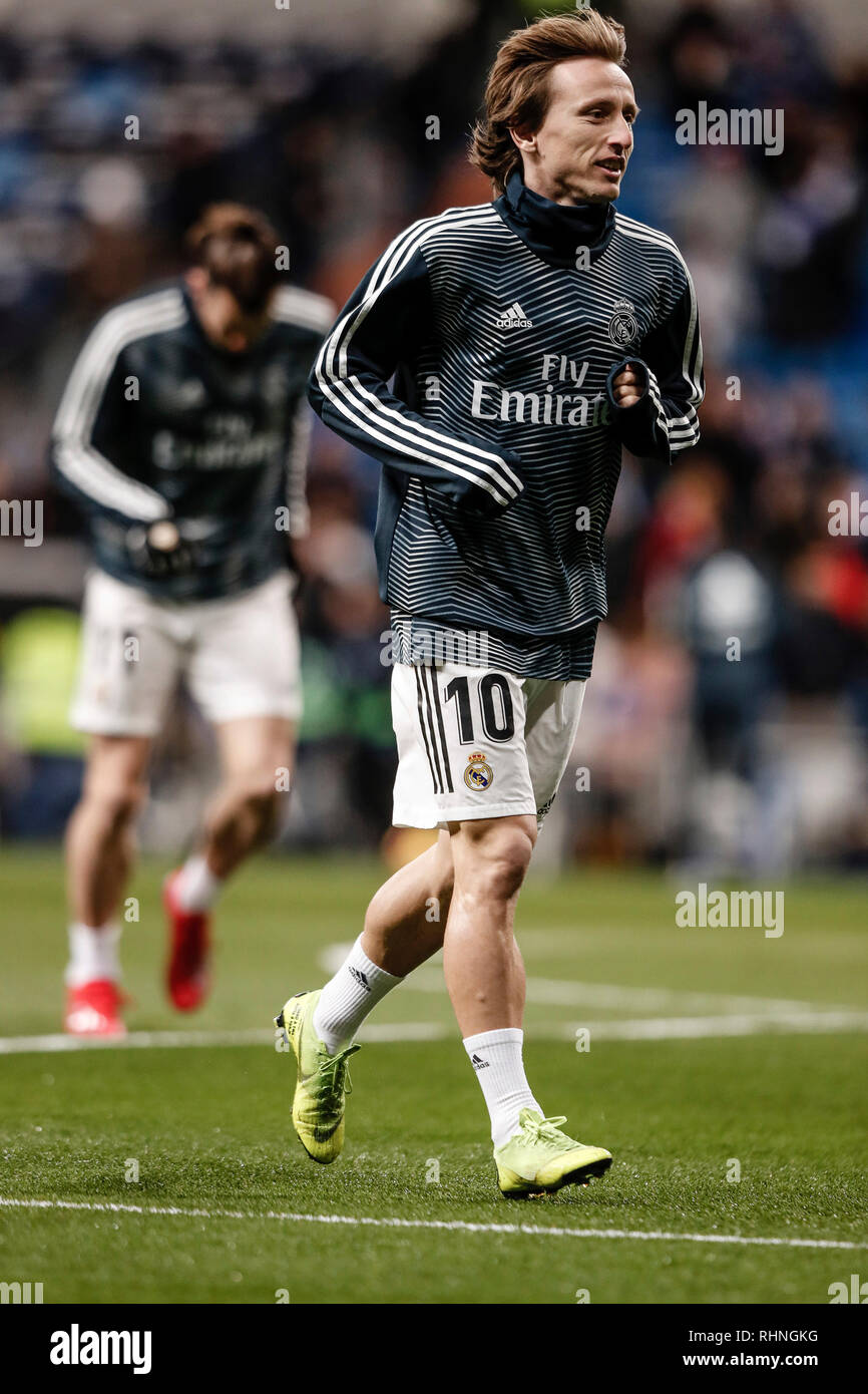 pretty nice bb261 bf612 Santiago Bernabeu, Madrid, Spain. 3rd Feb, 2019. La Liga ...