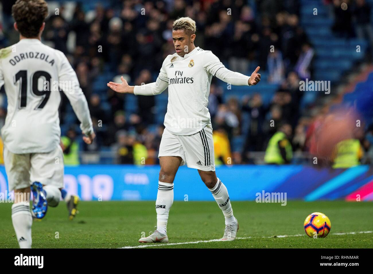 Madrid Spain 03rd Feb 2019 Real Madrid S Mariano Diaz Jubilates
