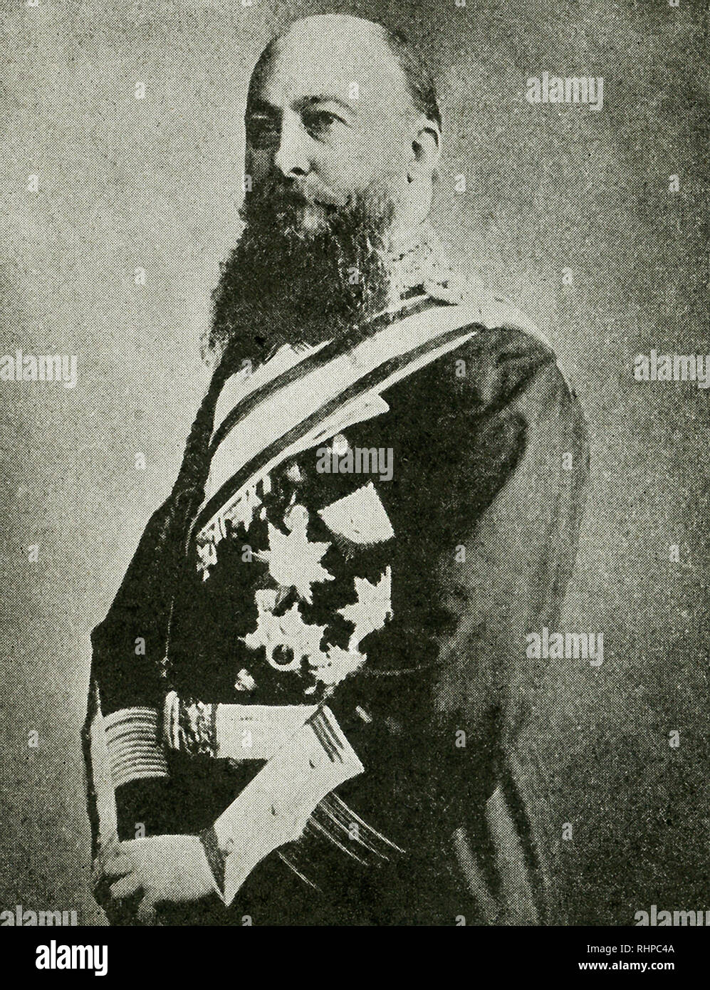 The caption reads: Von Tirpitz of the German Navy whose ruthless submarine warfare against women and children shocked the world. The photo dates to World War I. Alfred von Tirpitz was a German Grand Admiral and served as Secretary of State of the German Imperial Naval Office from 1897 until 1916. - Stock Image