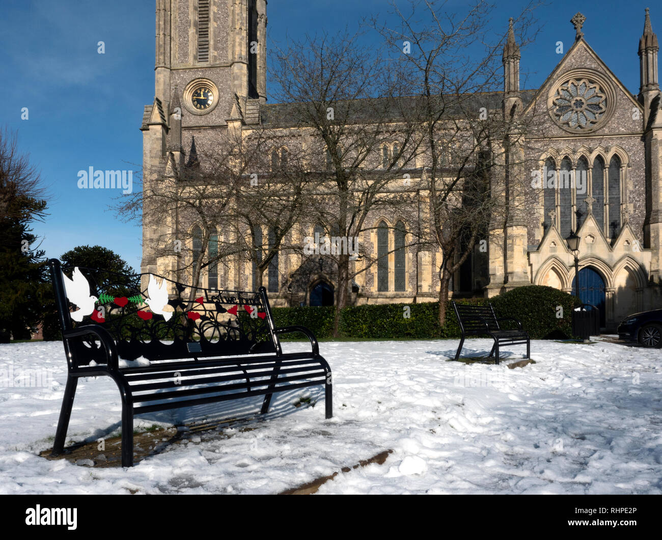 St Mary's Church, Andover, Hampshire, England, United Kingdom - Stock Image