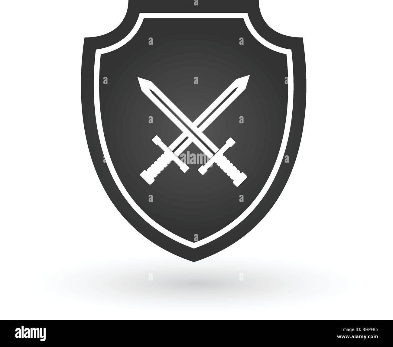 Crossed Swords Logo Stock Photos & Crossed Swords Logo Stock