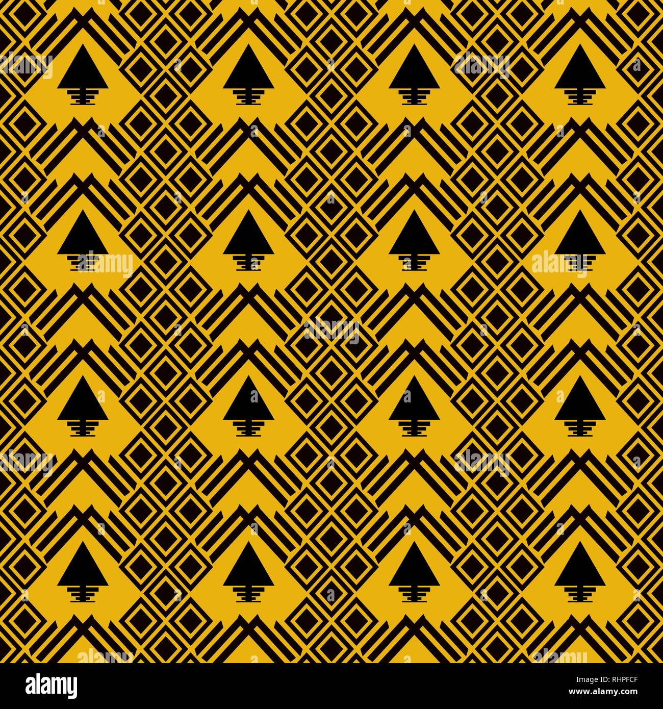 Tribal Navajo Vector Seamless Pattern Aztec Fancy Abstract