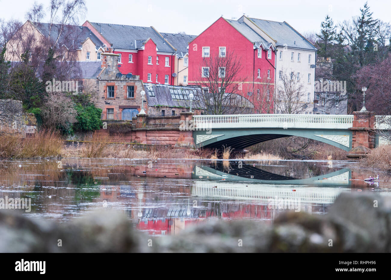 Haddington River Tyne - Stock Image