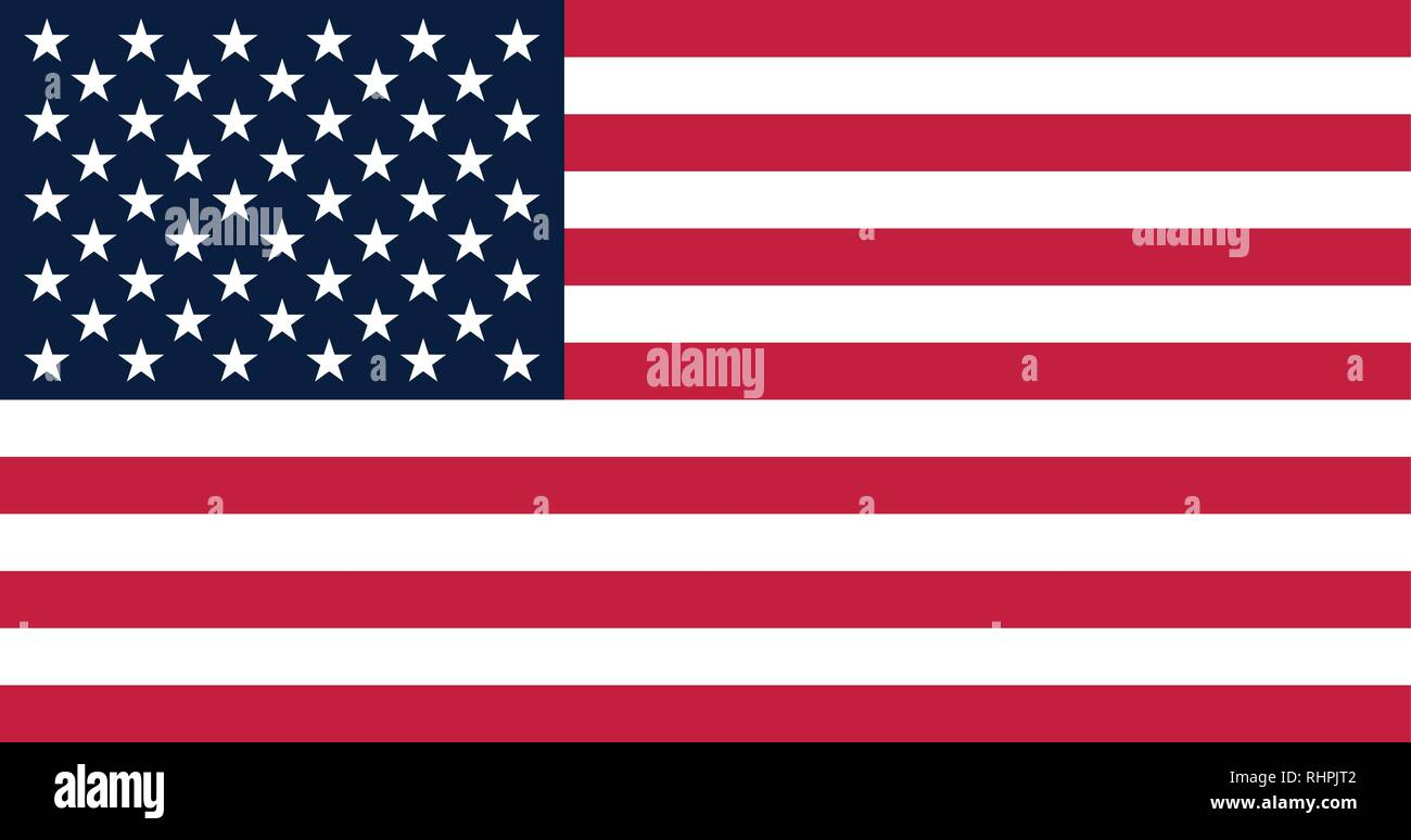 Vector image of Howland island Flag. Based on the official and exact Howland flag dimensions (19:10) & colors (200C, 280C and White) - Stock Vector