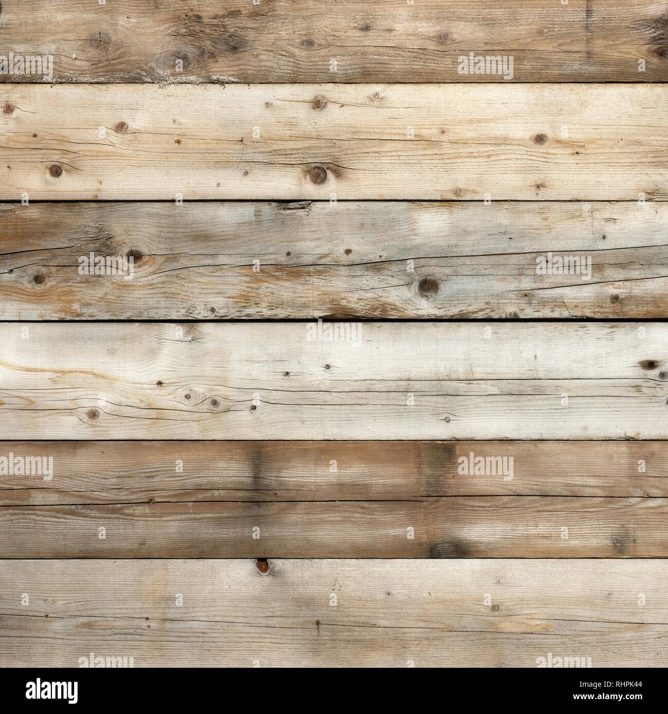Old wood background square format - Stock Image