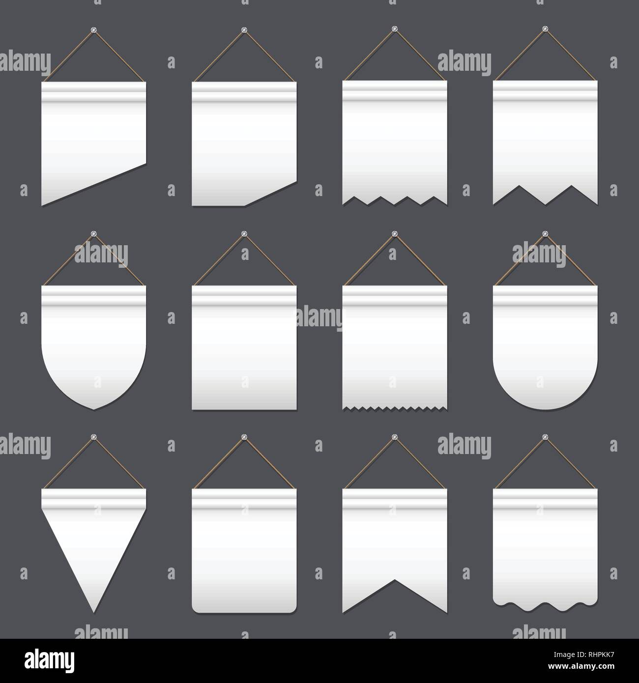 Set of various flags - Stock Image