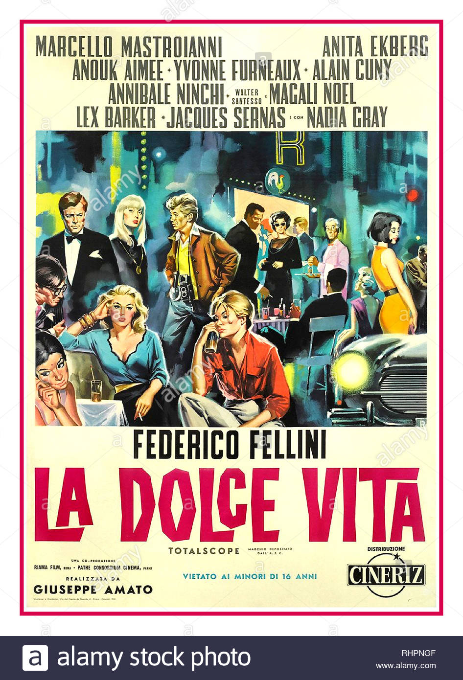 e8c0d0ff840 LA DOLCE VITA 1960 Vintage Movie Poster Italian film poster for La Dolce  Vita from 1960