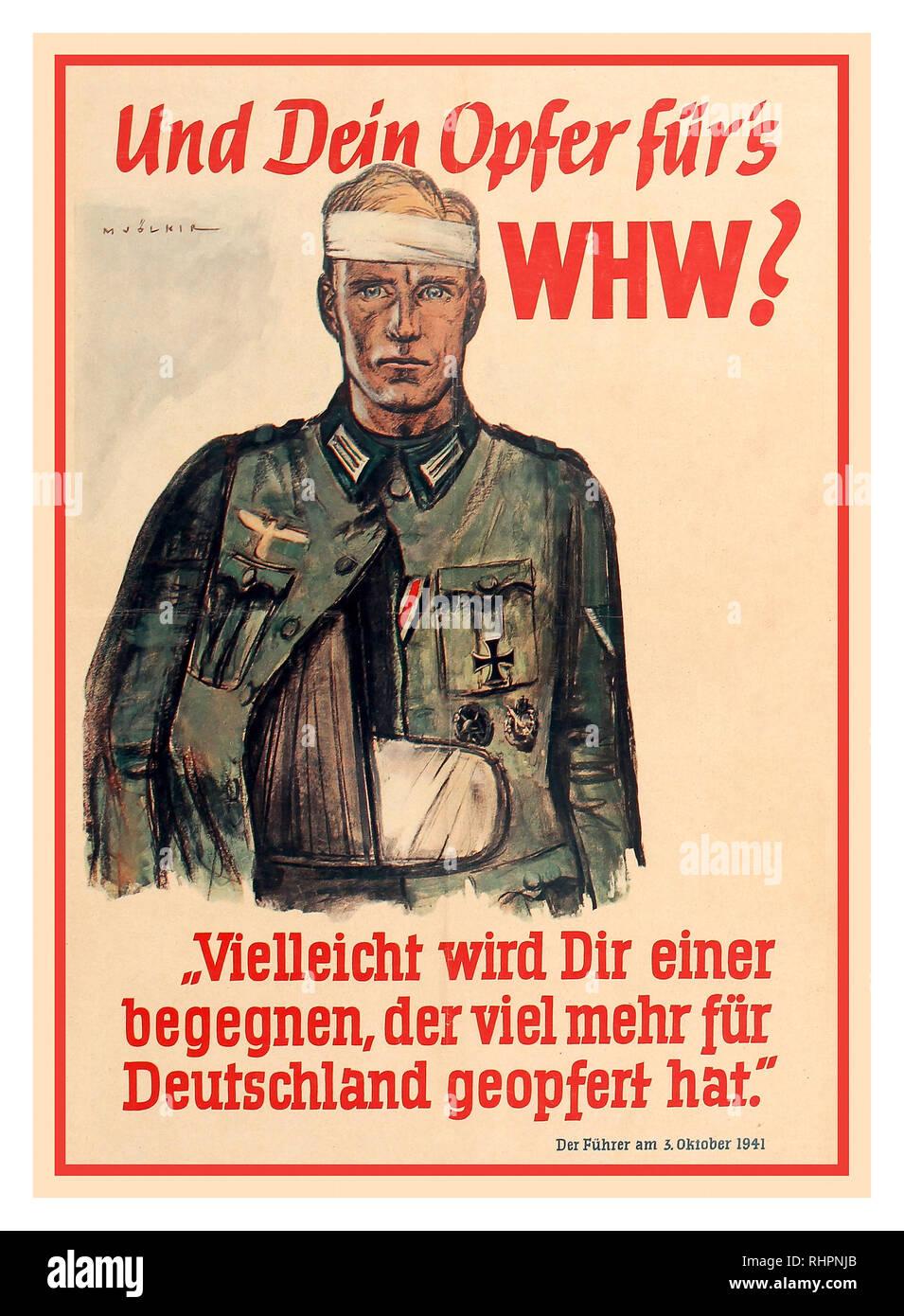 WW2 German Nazy Family Propaganda Poster