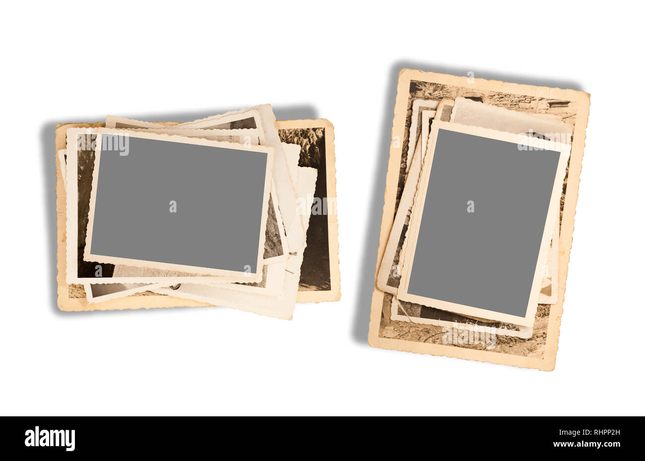 old pictures isolated  on white background - Stock Image