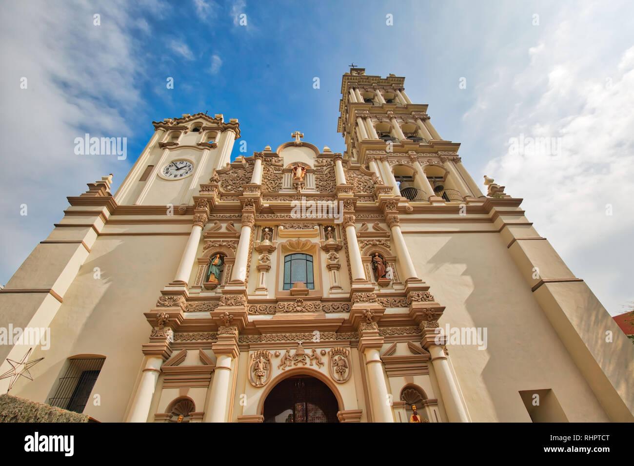 Monterrey, Macroplaza, Metropolitan Cathedral (Catedral Metropolitana de Monterrey) Stock Photo