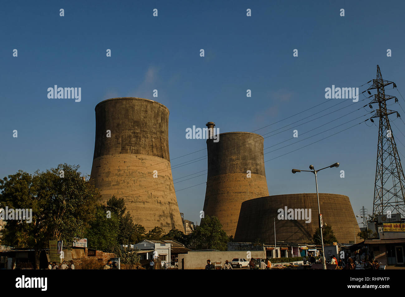 14-12- 2007 Energy-cooling  thermal power Station  Ahmedabad  Gujarat  India asia Stock Photo