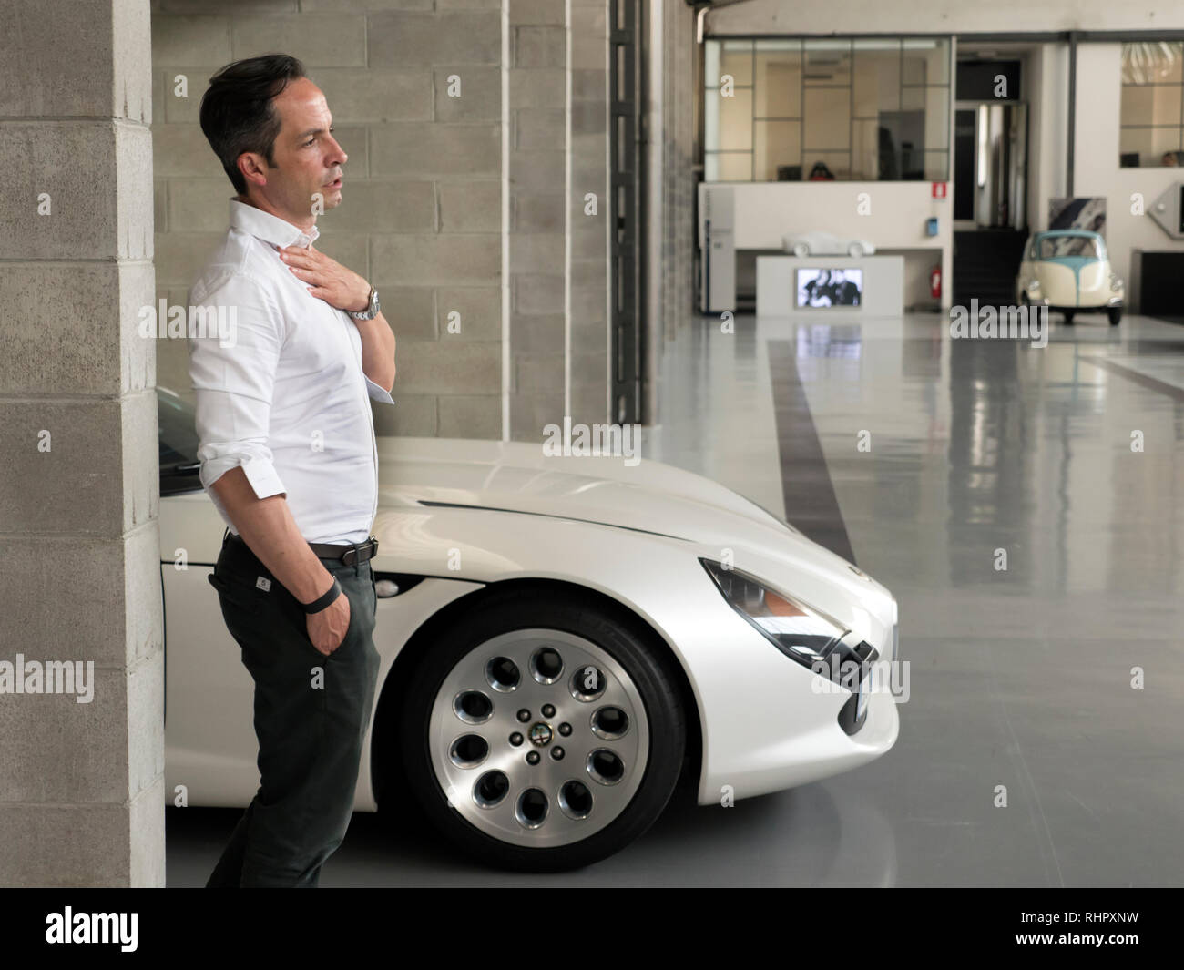 Stephane Schwarz design Director of Zagato - Stock Image