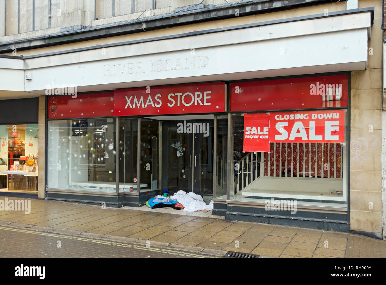 Empty shop in the city centre Coney Street York North Yorkshire England UK United Kingdom GB Great Britain - Stock Image