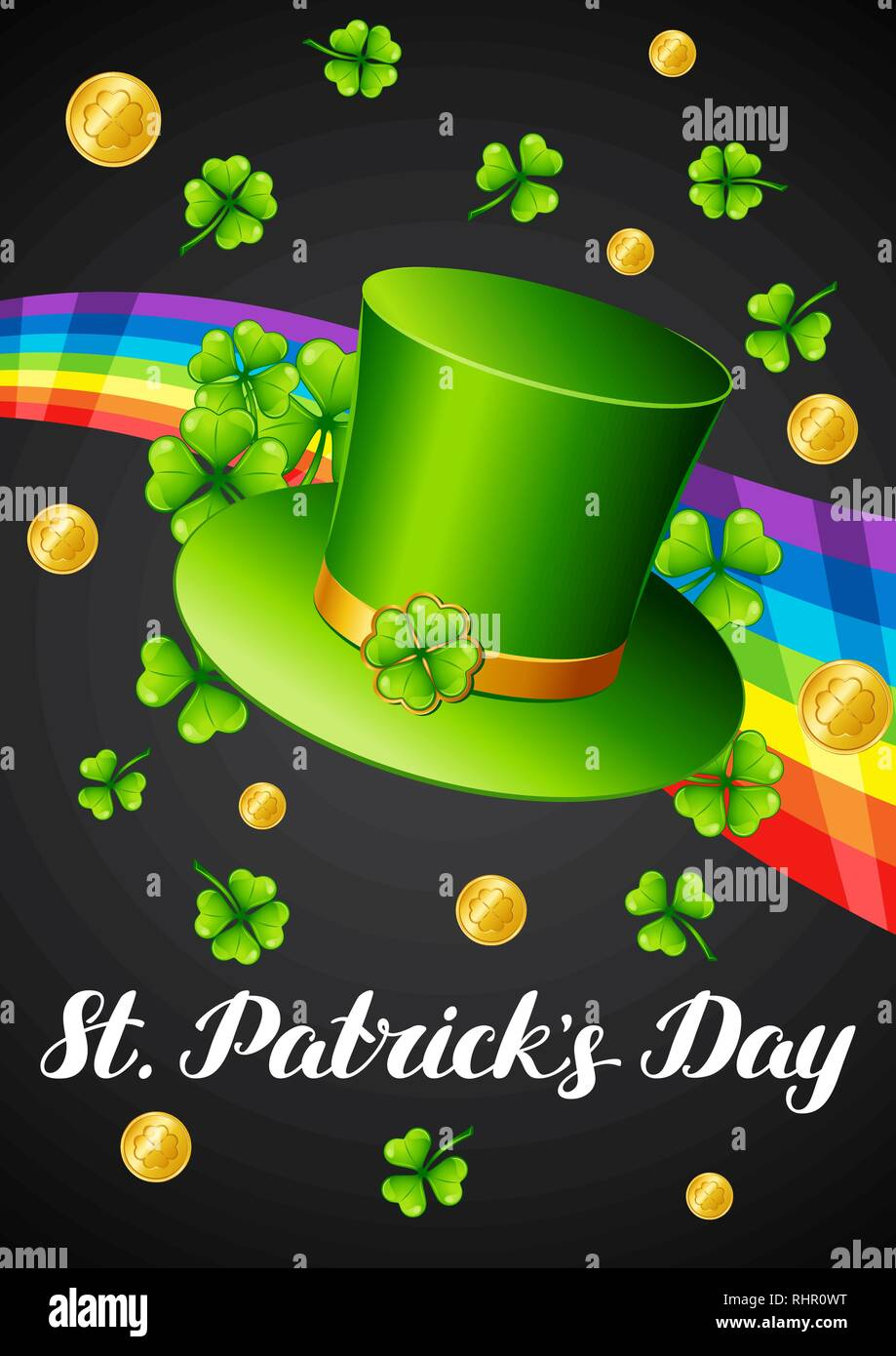 Saint Patricks Day greeting card. - Stock Vector