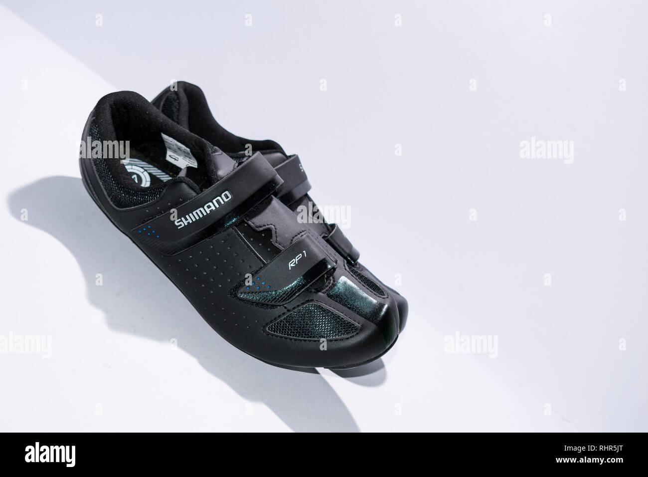 Shimano RP1 Cycling shoes - Stock Image