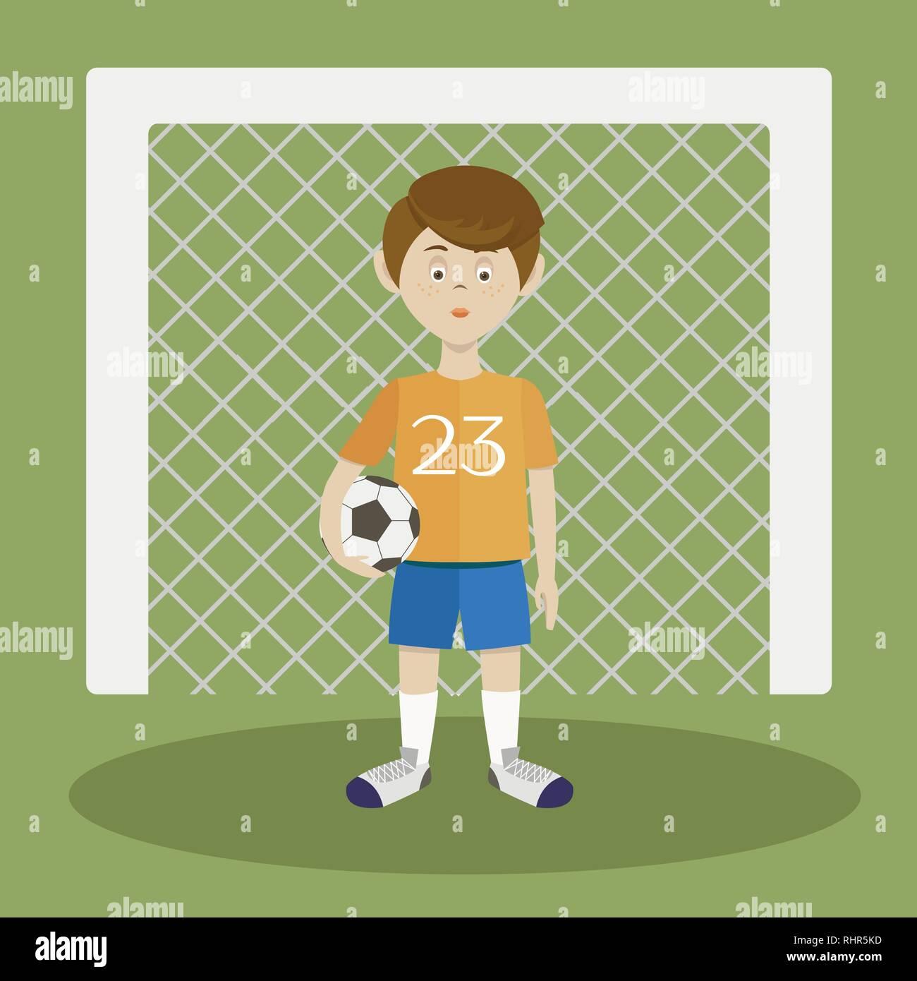 Football player. Sportsman Vector illustration EPS 10 - Stock Vector