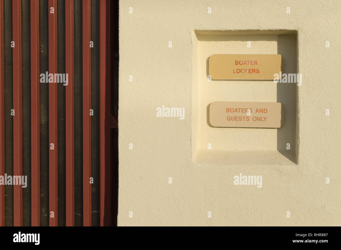 Boater Lockers, Boaters and Guests Only - Stock Image
