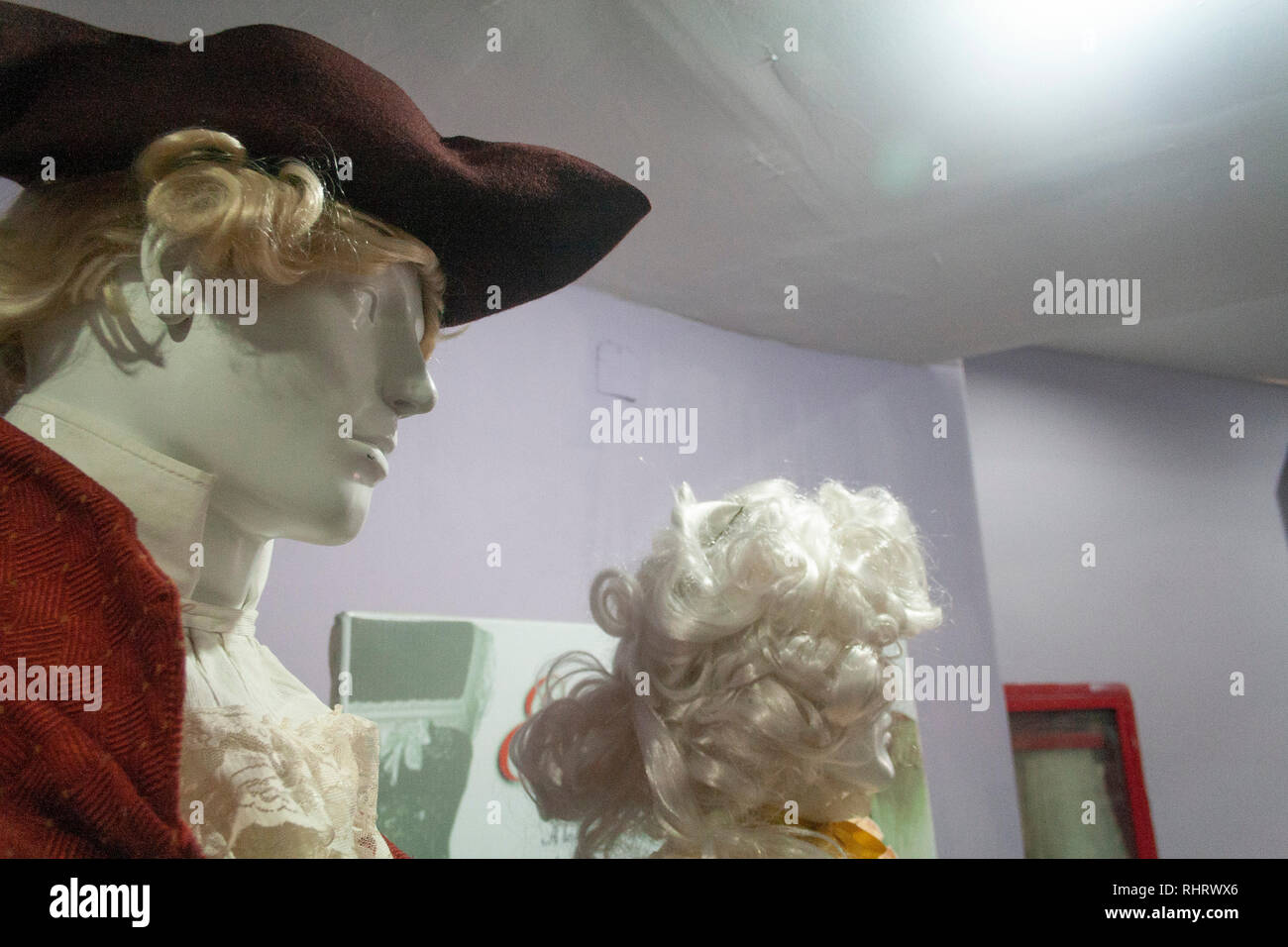 Caracas, Dtto Capital / Venezuela - 03/05/2013. Male mannequin with hat with 19th century detailCatia Theater in Catia neighborhood. - Stock Image