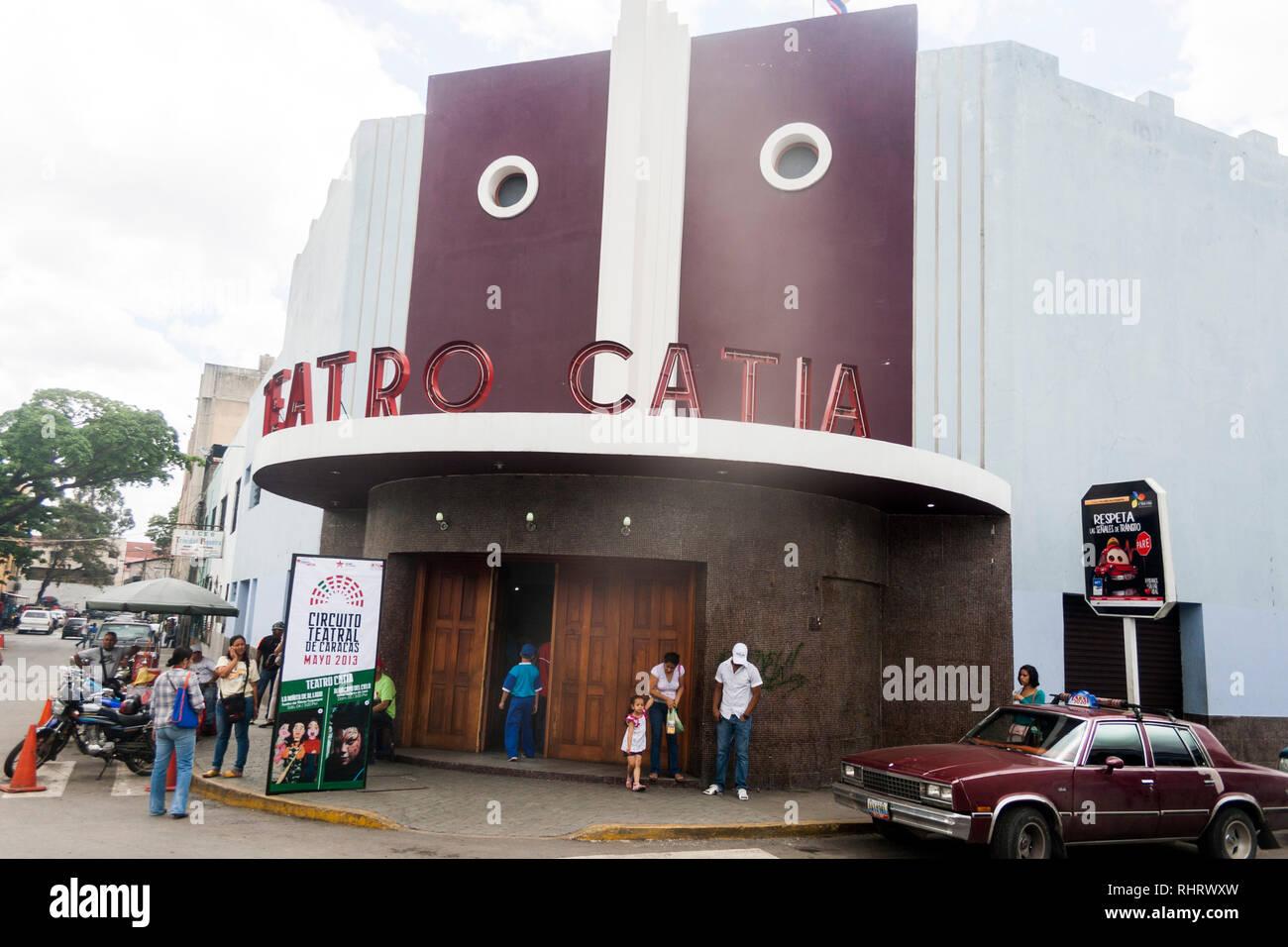 Caracas, Dtto Capital / Venezuela - 03/05/2013.Facade Catia Theater in Catia neighborhood. - Stock Image