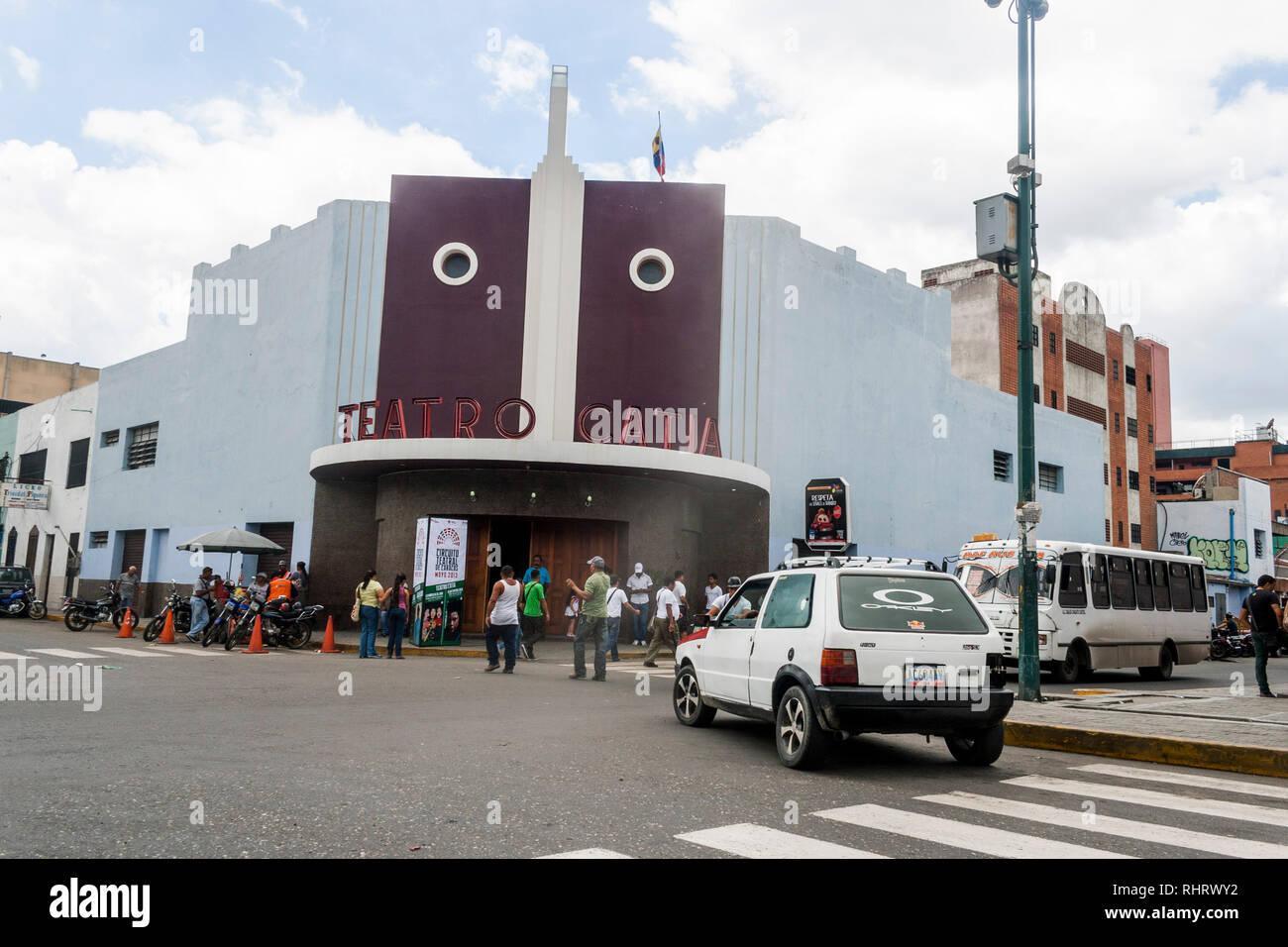 Caracas, Dtto Capital / Venezuela - 03/05/2013. Facade Catia Theater in Catia neighborhood. - Stock Image