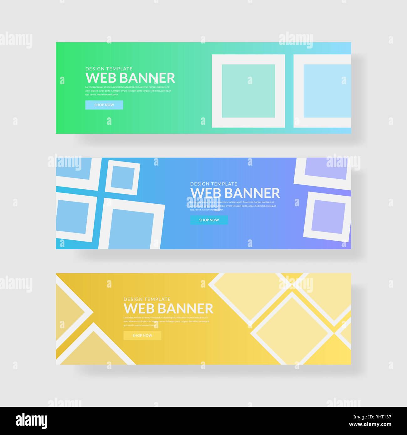 Website banner ui ux - Stock Image