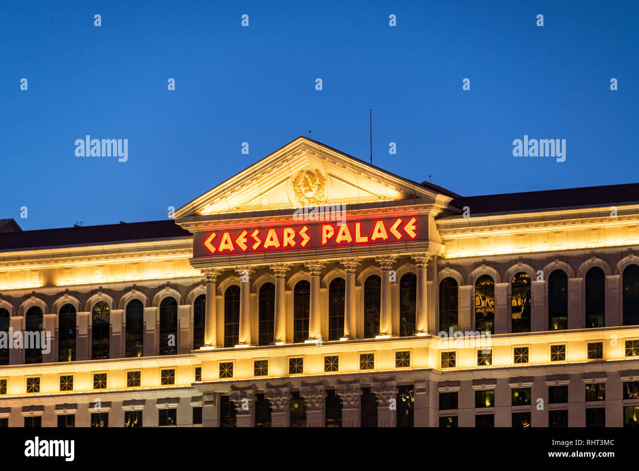 LAS VEGAS, SEPTEMBER 17: View of the exterior of Caesars Palace in Las Vegas on September 17, 2015 - Stock Image