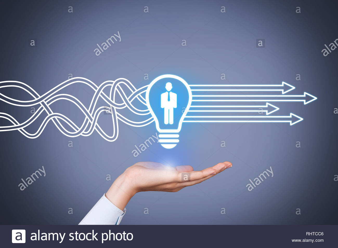 Human Resourses Solution Concepts on Touch Screen - Stock Image