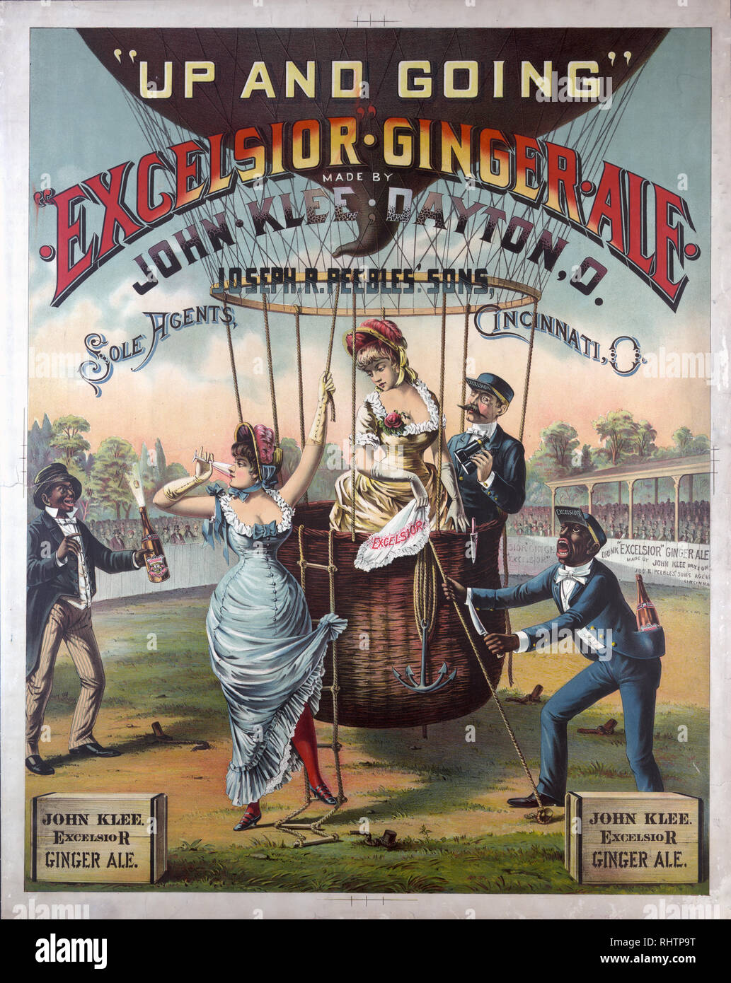 Up and going, Excelsior ginger ale... ca. 1885 - Stock Image