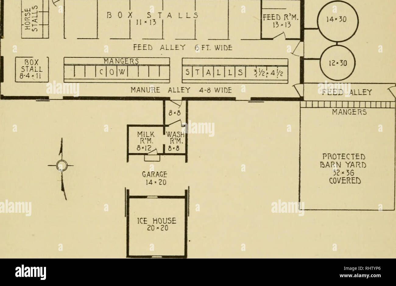 Better Dairy Farming The Breeding Feeding Handling And Care Of Dairy Cattle Cows Feeds Dairying Box Stalls Floor Plan For Handy Dairy Barn And Then Plan Very Very Carefully The Modifications