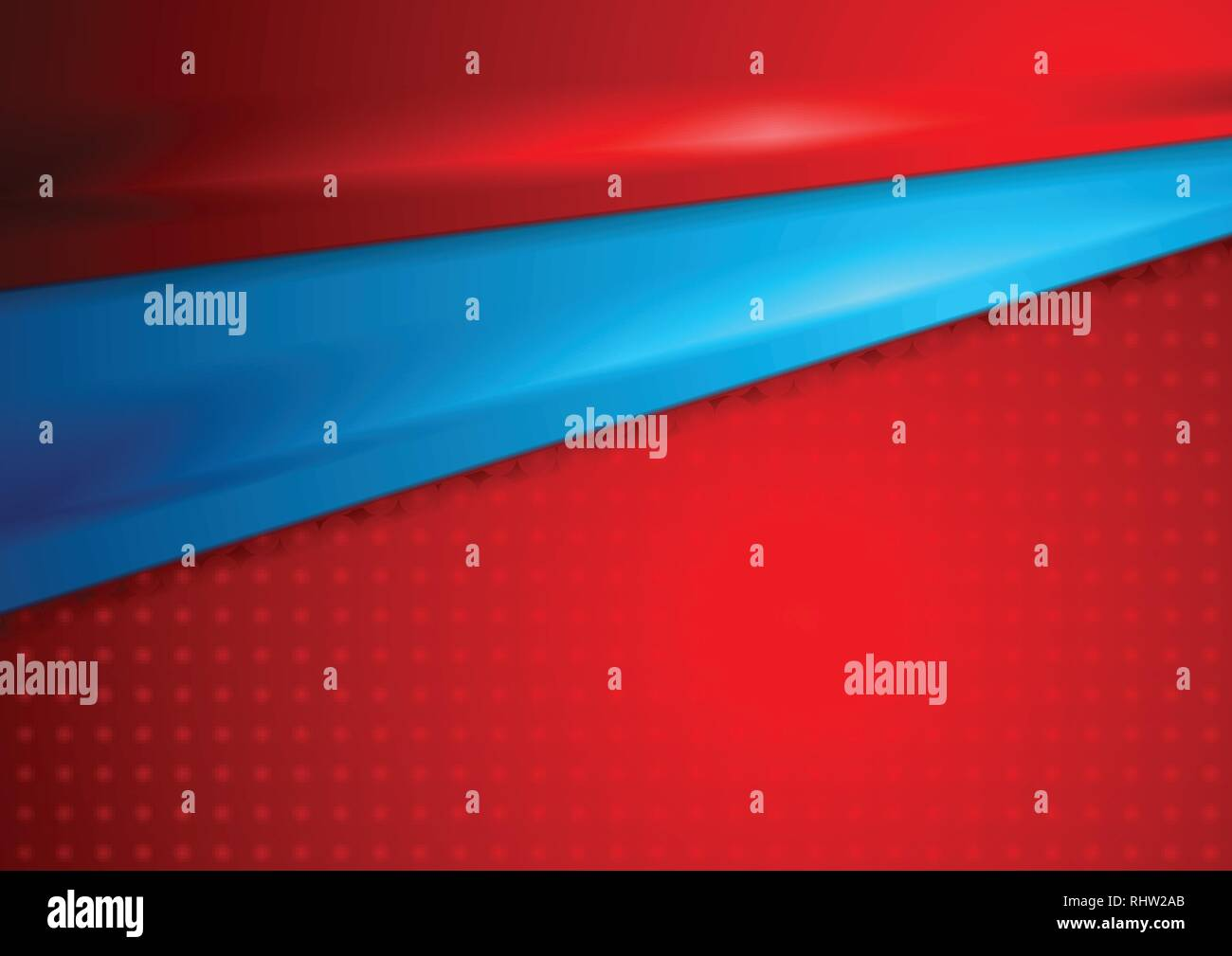 Bright Red And Blue Elegant Abstract Smooth Background