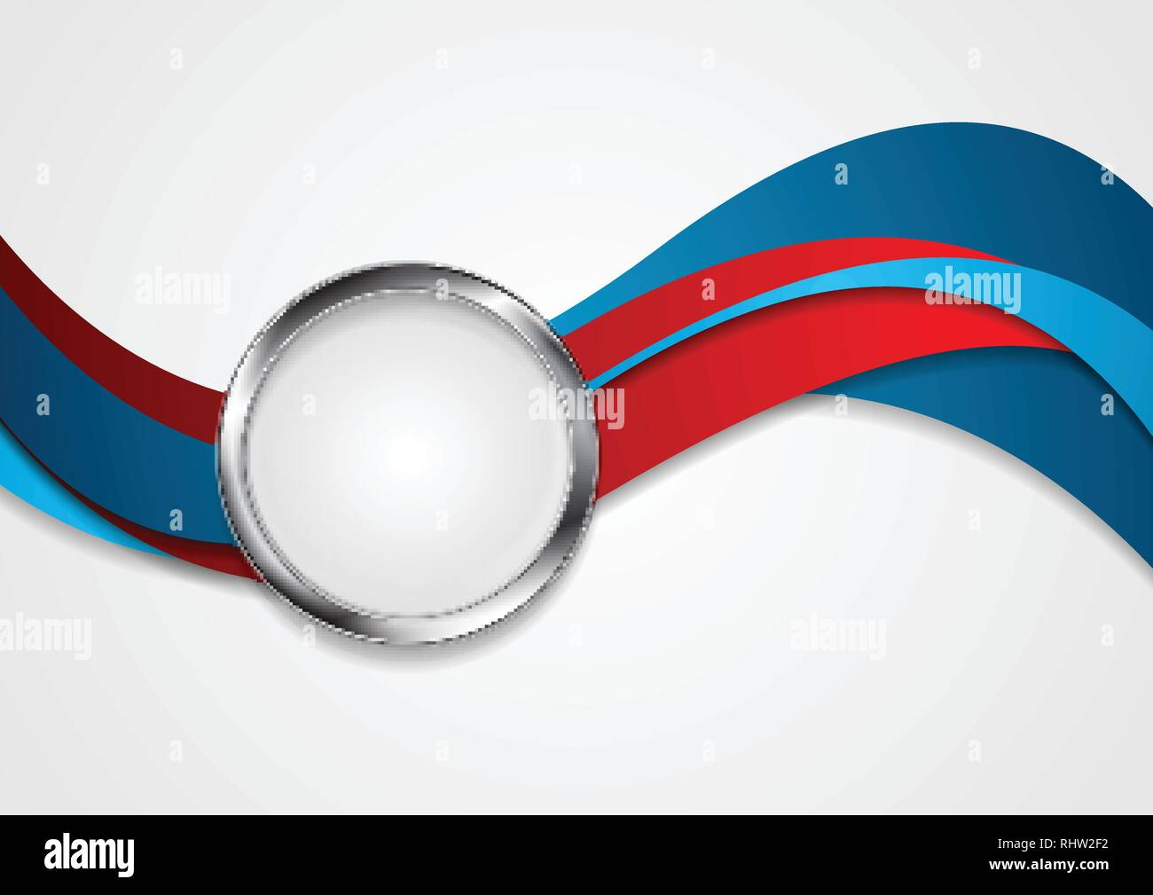 Blue And Red Wavy Corporate Abstract Background With