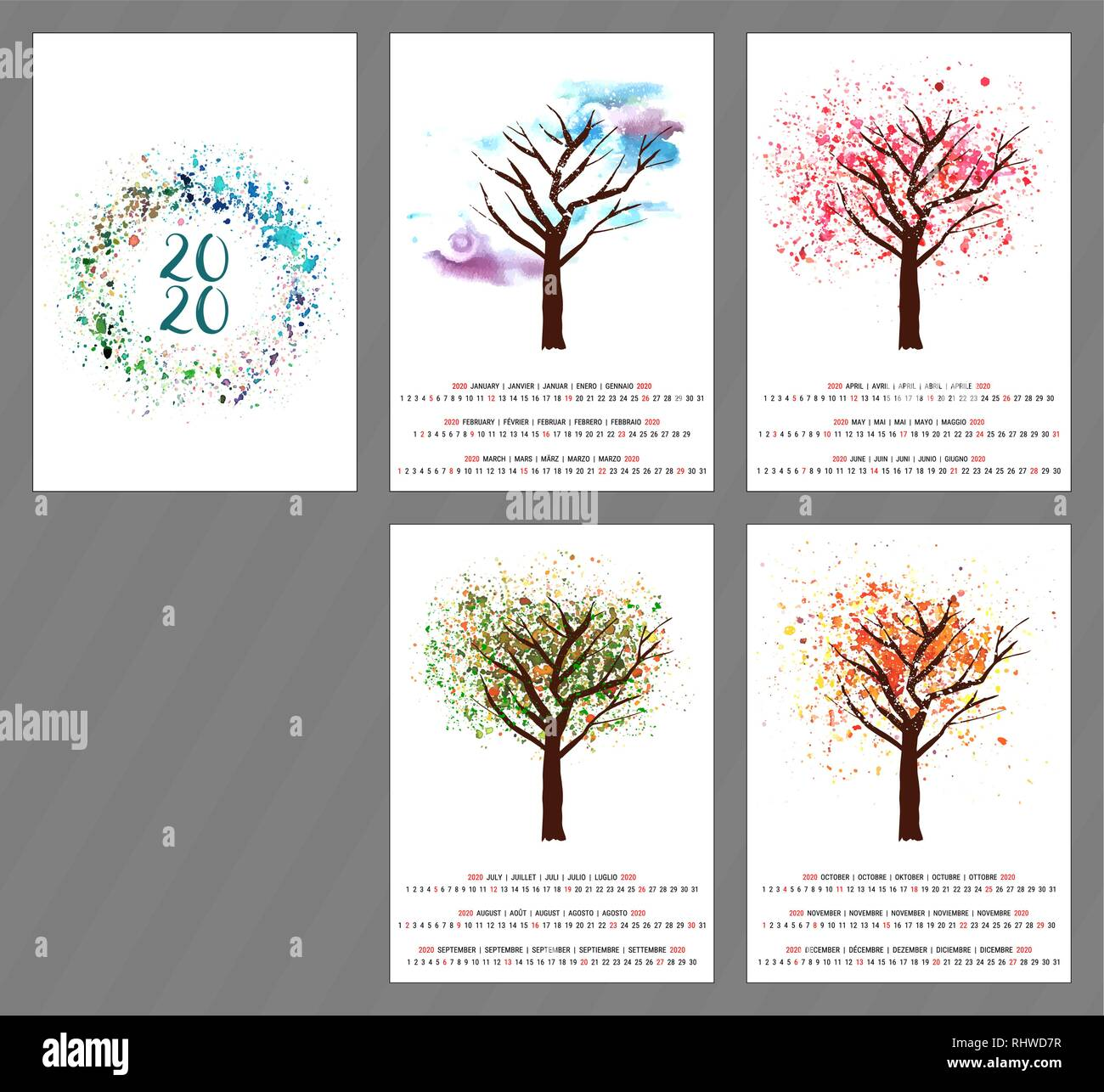 Calendario Gaf 2020.English Calendar Page Stock Photos English Calendar Page