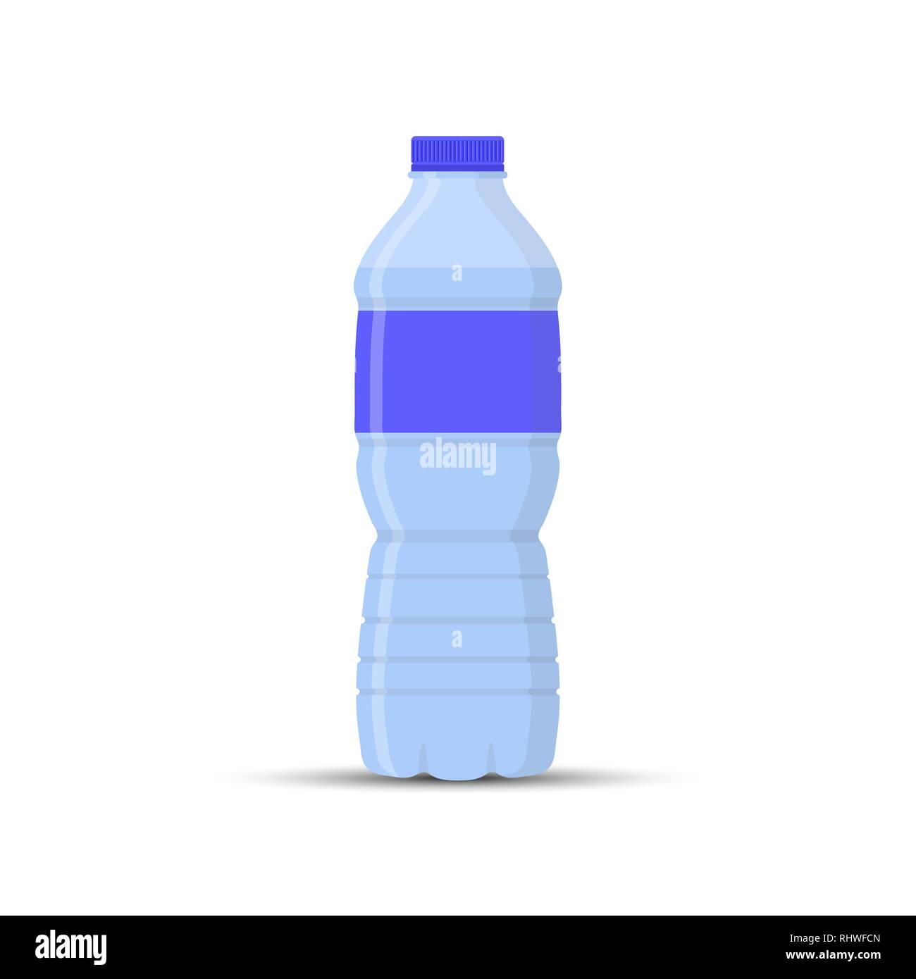 plastic water bottle, simple drawing for websites and apps - Stock Vector