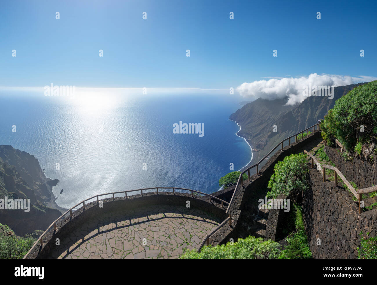 Viewpoint Mirador de Isora - El Hierro, Canary Islands - Stock Image