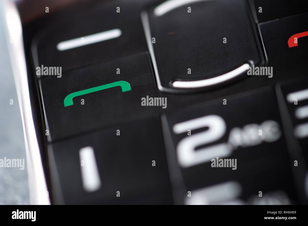 Close-up of an old mobile phone. - Stock Image