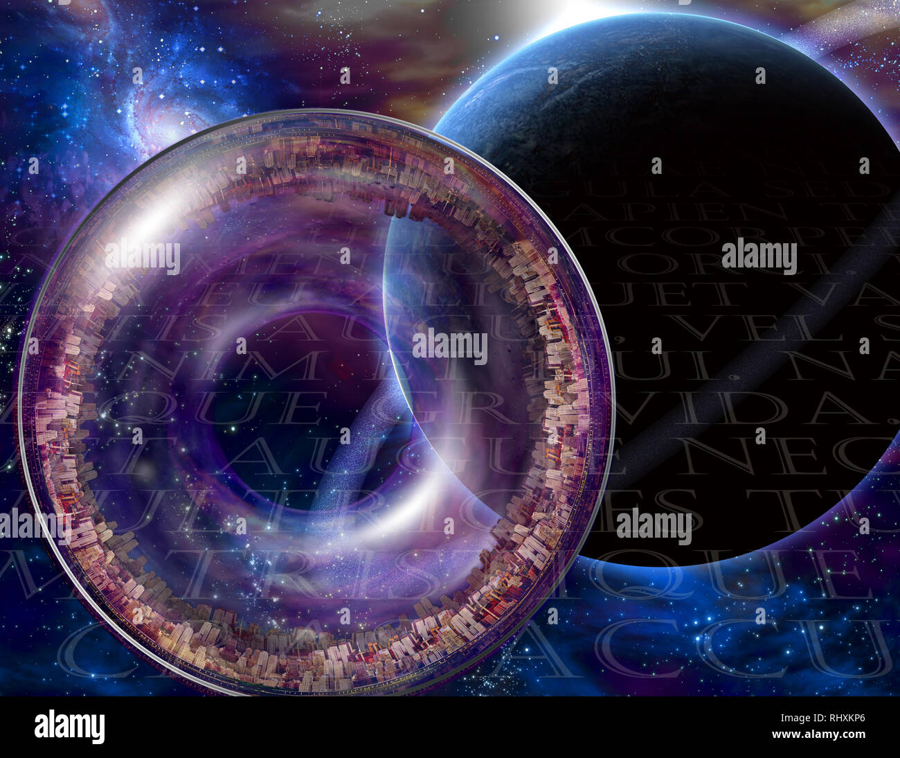 Multi-Generational Interstellar Ship - Stock Image