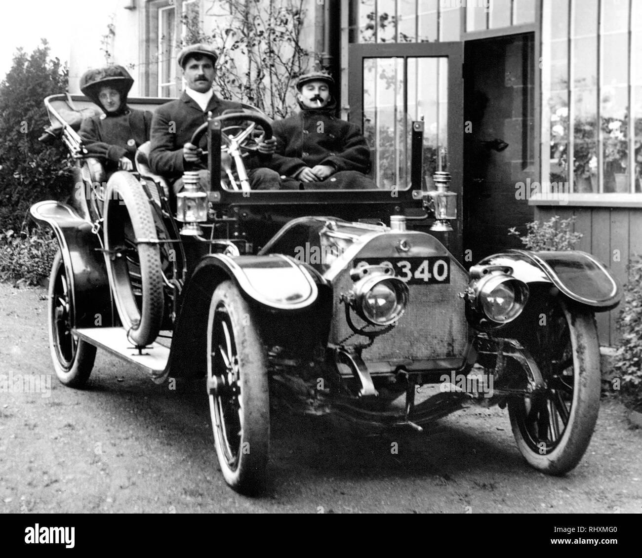 Early motor car - Stock Image