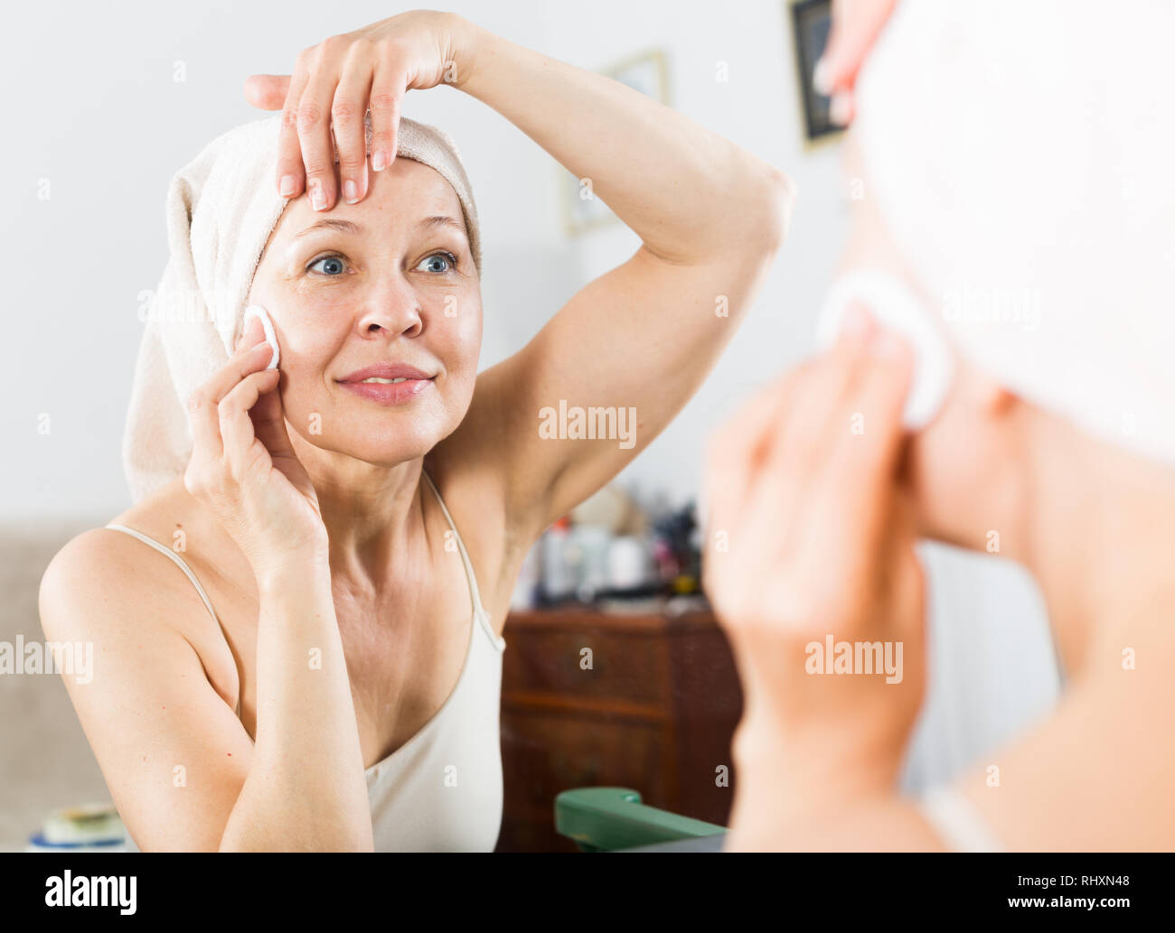 Old Woman Cleaning Stock Photos Old Woman Cleaning Stock Images