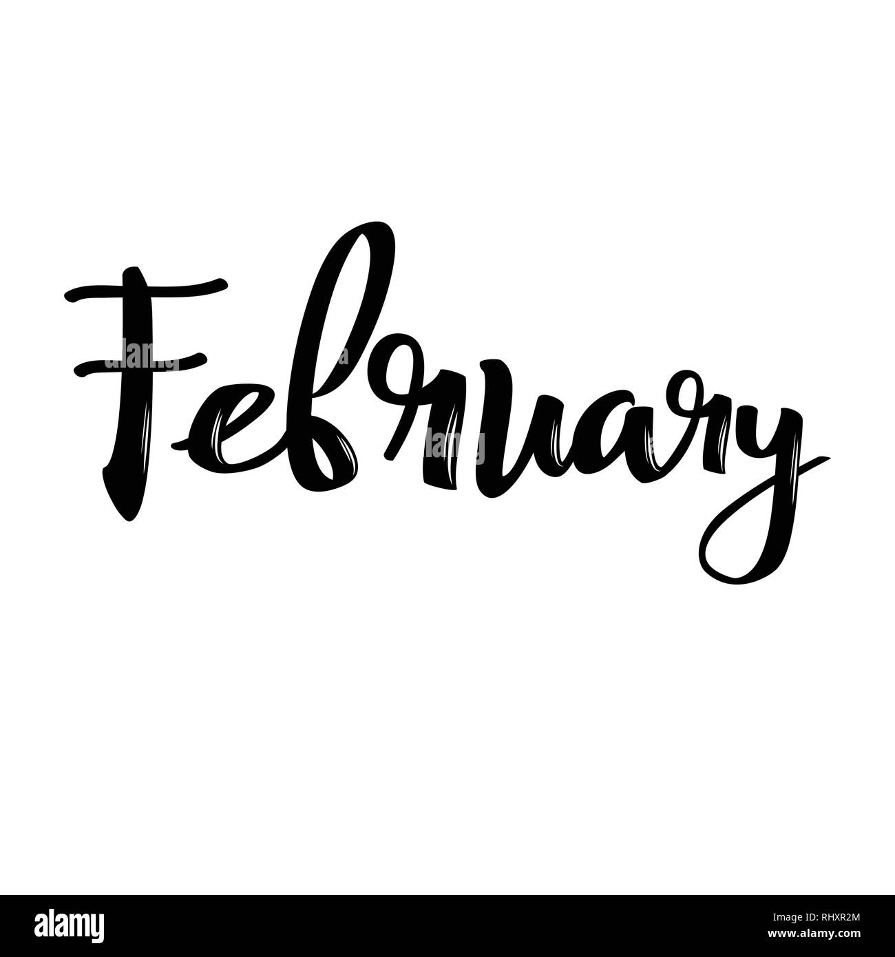 Hello February Black and White Stock Photos & Images - Alamy