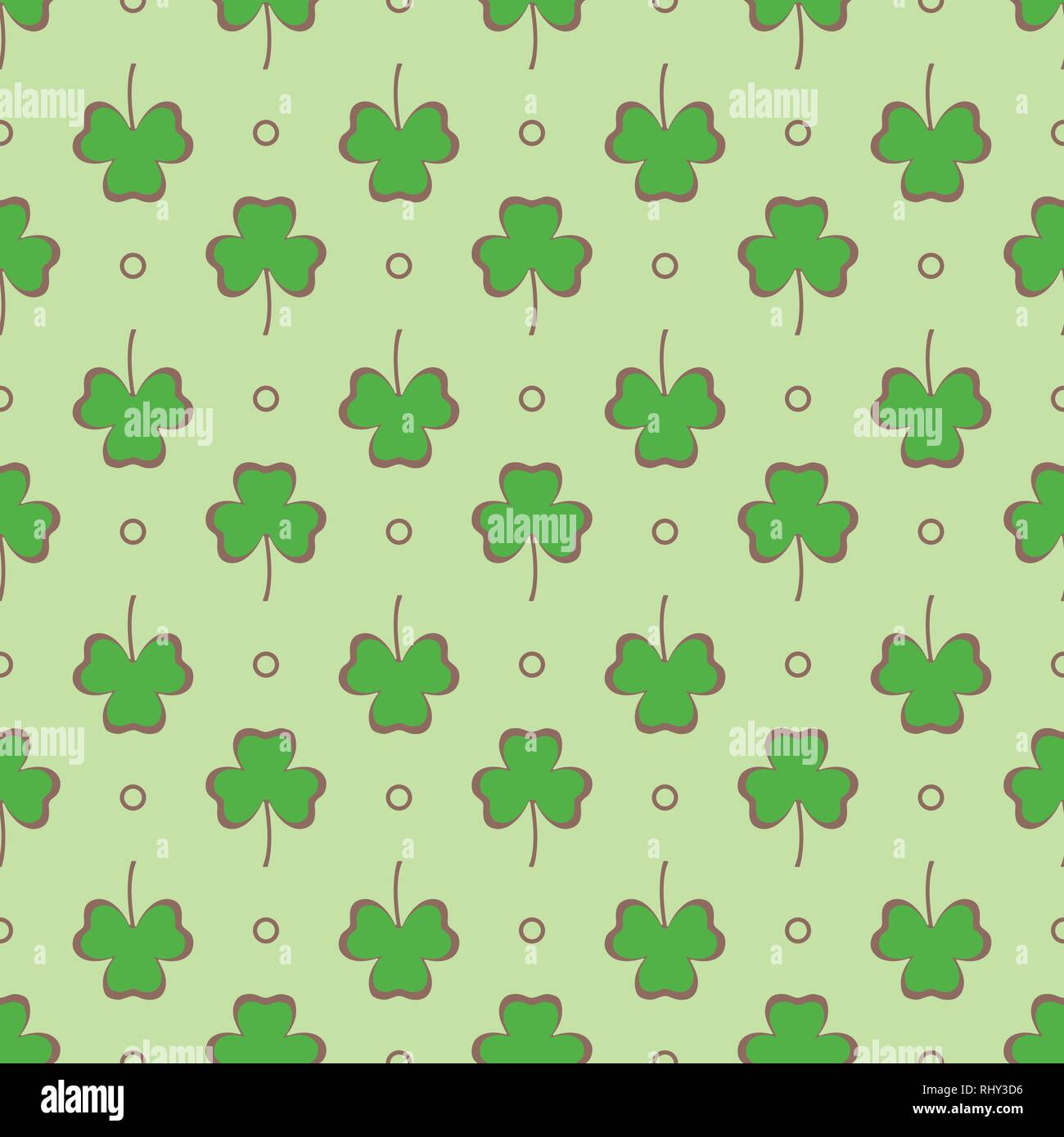 Seamless pattern with clover leaves. Shamrock background. St ...