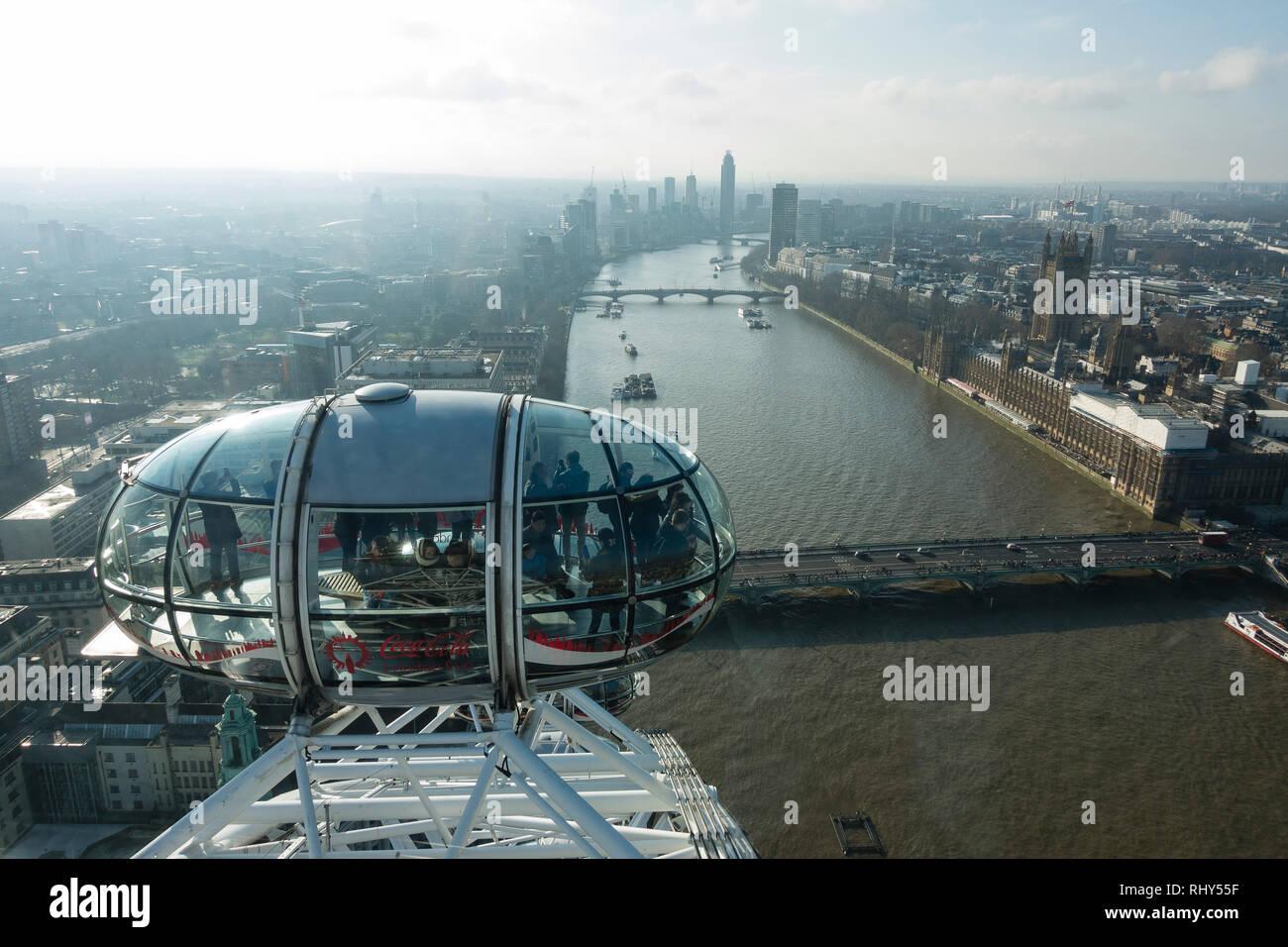 View of London Skyline Stock Photo