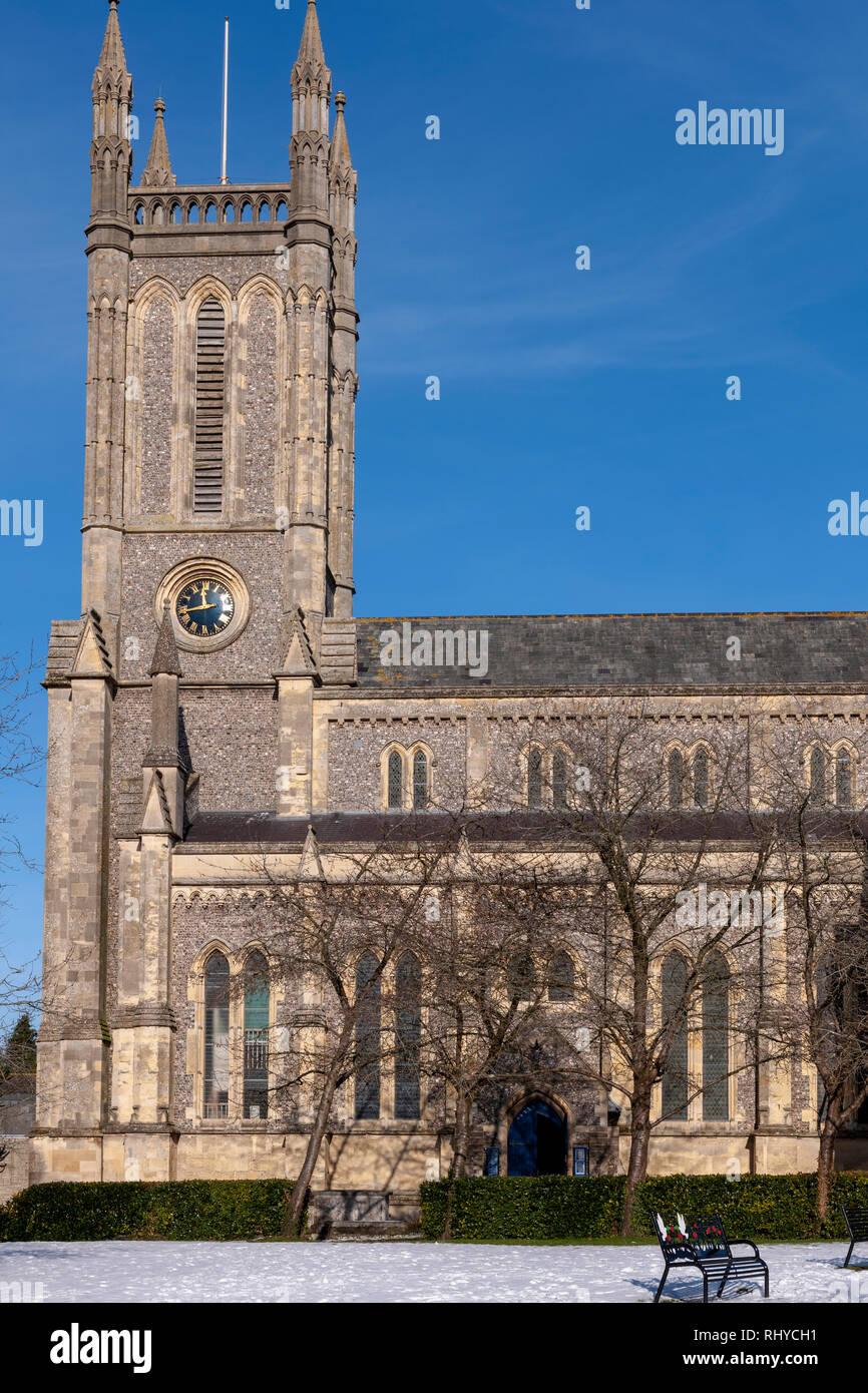 St Mary's Church, Parish church of Andover, Andover, Hampshire, England, UK - Stock Image