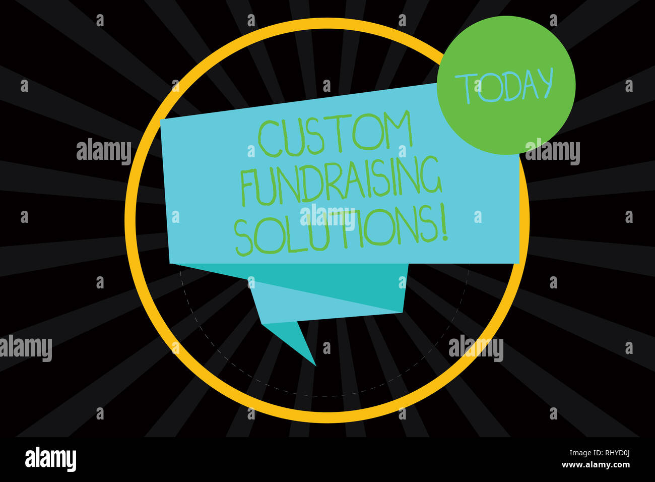 Word writing text Custom Fundraising Solutions  Business concept for