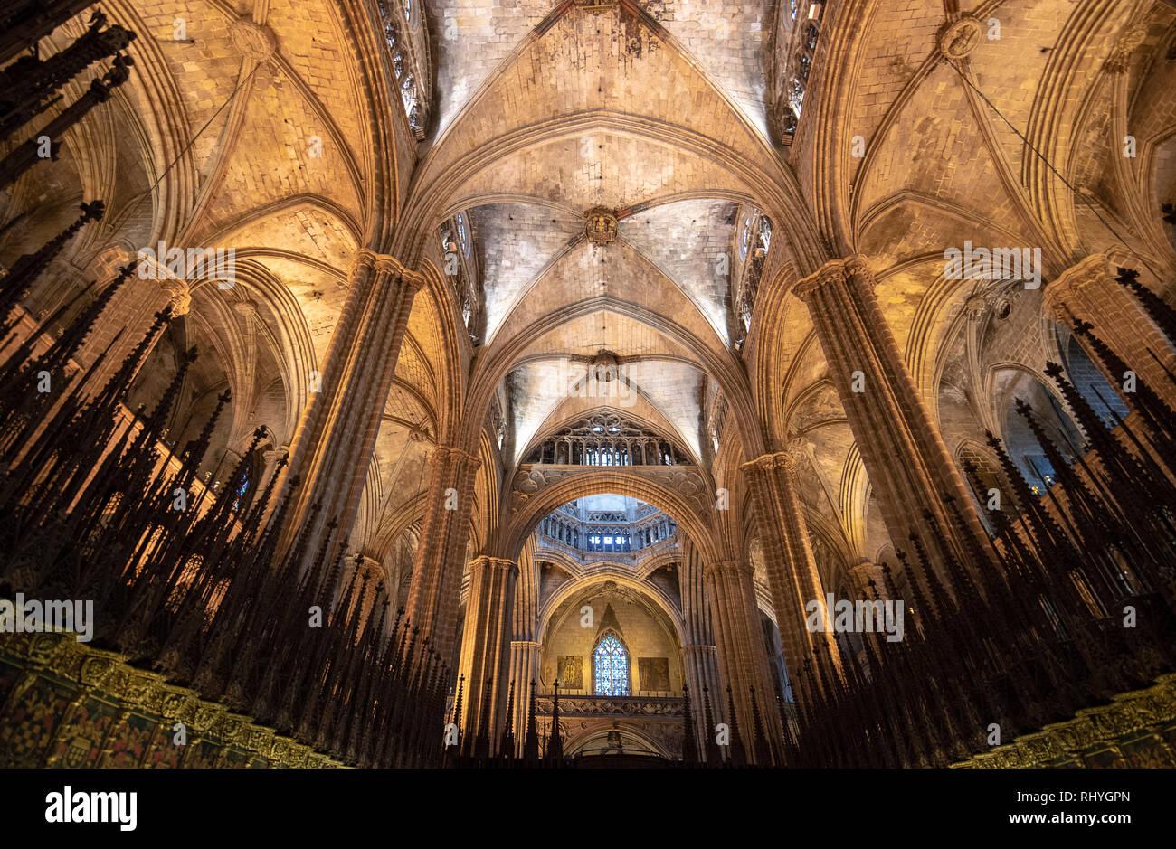 Catedral De La Santa Cruz Y Santa Eulalia De Barcelona High Resolution Stock Photography And Images Alamy